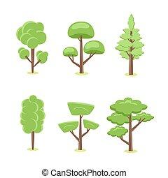 קבע, עצים
