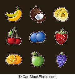 קבע, פרי, איקונים