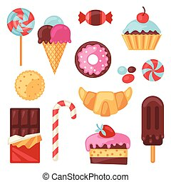 קבע, צבעוני, ממתק, ממתקים, שונה, cakes.