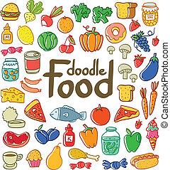 קבע, צבע, אוכל, שרבט, ירקות, 50, מוצרים, הרבה, שונה, פירות, more.