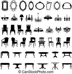 קבע, צללית, רהיטים