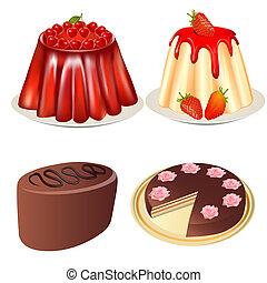 קבע, קינוח, ג'לי, תותי שדה, עוגה של דובדבן