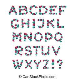 קבע, alphabet., illustration., letters., וקטור, אנגלית, כיף