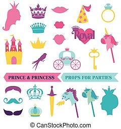 קבע, priness, -, מסכות, הכתר, וקטור, שפמים, פוטובוט, תומכים, מפלגה, נסיך