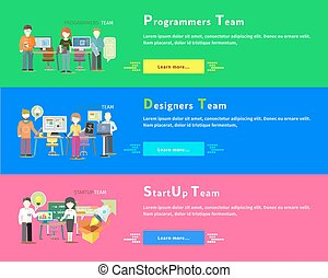 קבץ, אנשים, programmers., סטרט-אפ, team., מעצבים