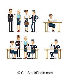 קבץ, אנשים, team., עסק