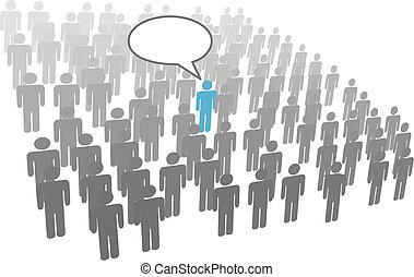 קבץ, דחוס, חברה, בן אדם, איש, נאום, סוציאלי