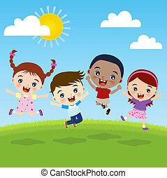 קבץ, ילדים, אושר