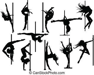 קוטב, רקדן, צלליות