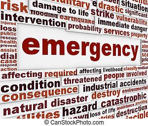קונצפטואלי, מסר, חירום, רקע