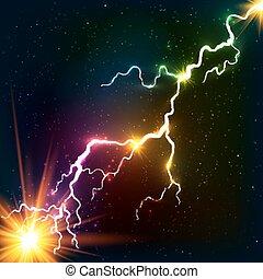 קוסמי, קשת, פלסמה, מאיר, צבעים, ברק