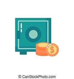 קופסה, איקון, כספת, כסף, בנקאות