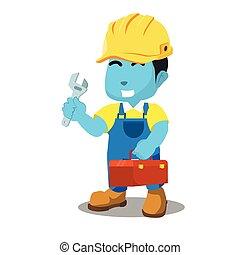 קופסה כחולה, עבד, מתקן כל דבר, להחזיק