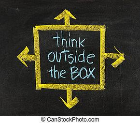 קופסה, לוח, בחוץ, חשוב, בטא