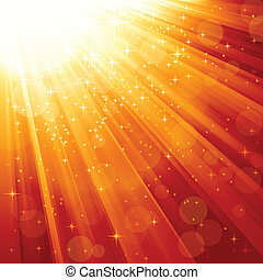 קורות, קסם, כוכבים, אור, לרדת