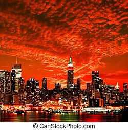 קו רקיע של עיר, יורק, חדש, באמצע-עיר