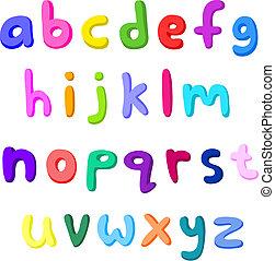 קטן, מכתבים, צבעוני