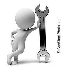 קטן, people-wrench, 3d