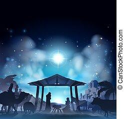 קטע של לידה של חג המולד