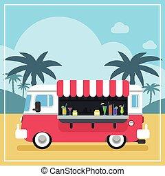 קיץ, אדם חלקלקים, משאית, שותה