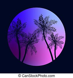 קיץ, עצים, טרופי, דקל, גן עדן, חופשה