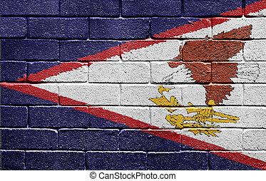 קיר, אמריקאי, לבנה, סמואה, דגלל