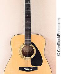 קיר, גיטרה, אקוסטי, רקע, תפוז