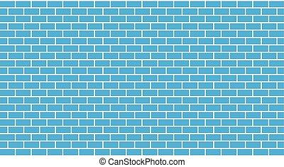 קיר כחול, לבנה, וקטור