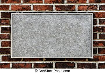 קיר, לבנה, סימן של מתכת