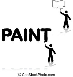 קיר, צייר