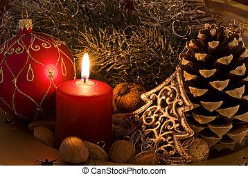 קישוט, חג המולד, אור נר