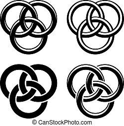 *קלטי, סמלים, וקטור, שחור, קשר, לבן