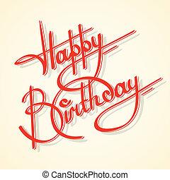 קליגרפיה, יום הולדת, שמח
