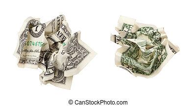 קמט, דולר, הפרד, מישהו, שני, לגזוז, included, שביל, לבן, צדדים
