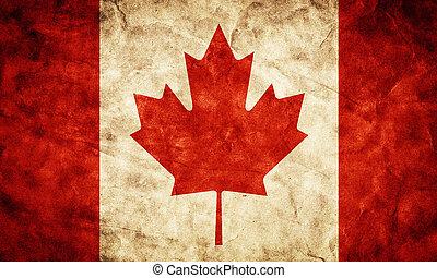 קנדה, גראנג, flag., בציר, פריט, דגלים, ראטרו, אוסף, שלי