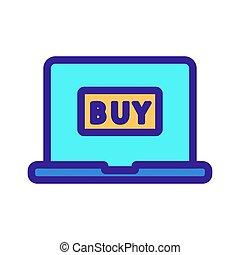 קניות, איקון, מיתאר, אינטרנט, דוגמה, סמל, הפרד, vector.