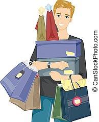 קניות, מכירה, איש