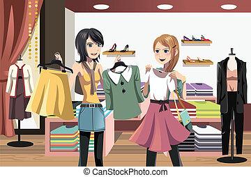 קניות, נשים