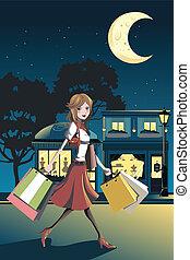 קניות של אישה