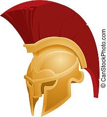 קסדה, spartan, דוגמה