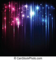 קסם, כוכבים, אורות, מואר, וקטור, רקע