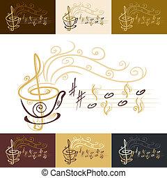 קפה, מוסיקלי, חפון