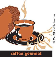 קפה, gourmet., רקע