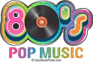 קפוץ, דיסק, מוסיקה, וייניל, 80s, לוגו