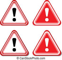 קריאה, סימן של סכנה, הפרד, דוגמה, וקטור, signs., אדום