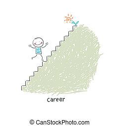 קריירה, ladder., illustration.