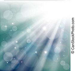 קרנות, bokeh, רקע, אור