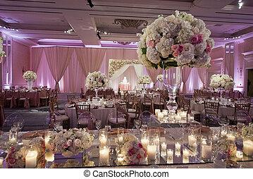 קשט, beautifully, אולם ריקודים, חתונה
