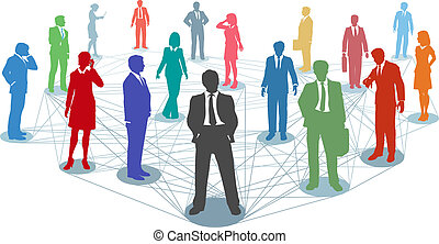 קשרים, אנשים, רשת, עסק, קשר