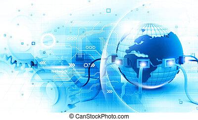 קשר, גלובלי, אינטרנט, דוגמה, דיגיטלי